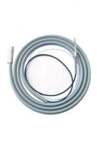 Fiber Optic Tubing w/ Ground Wire, 12' Tubing, 14' Bundle, Gray