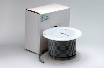 FC Tubing, 4 Hole, Poly Gray; Roll of 100ft