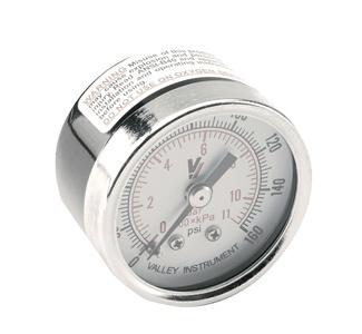 Round Pressure Gauge, 0-160 PSI