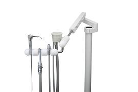 Telescoping Arm Assistants Instrum, White Premium 3 Position Precision Comfort (Syr, HVE, SE)