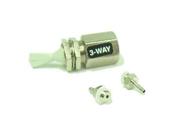 Toggle Valve, Momentary, 3-Way, Normally Closed, Gray