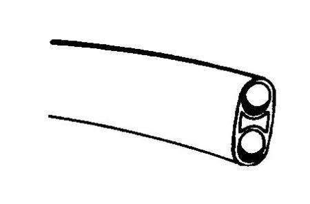 Syringe Tubing, 2 Hole, Asepsis Straight Black
