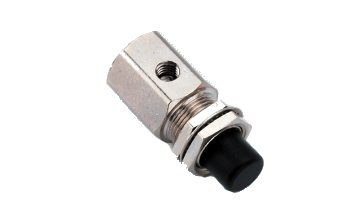 Push Button Momentary, 3-Way, Normally Closed, Gray