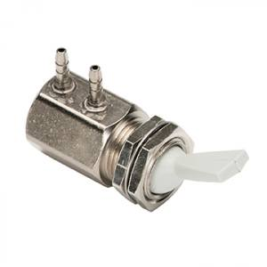 Toggle Valve, Side Ported, 2-Way, Gray
