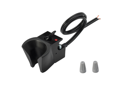 Holder, Electric Auto, Normally Closed, Black