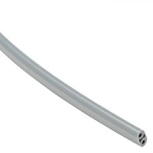 Syringe Tubing, 2 Hole, Asepsis Straight Gray