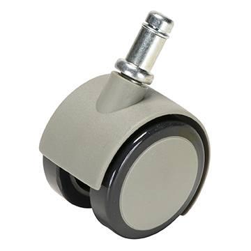 Caster, Soft Wheel for Hard Floors, Gray, Pkg of 5