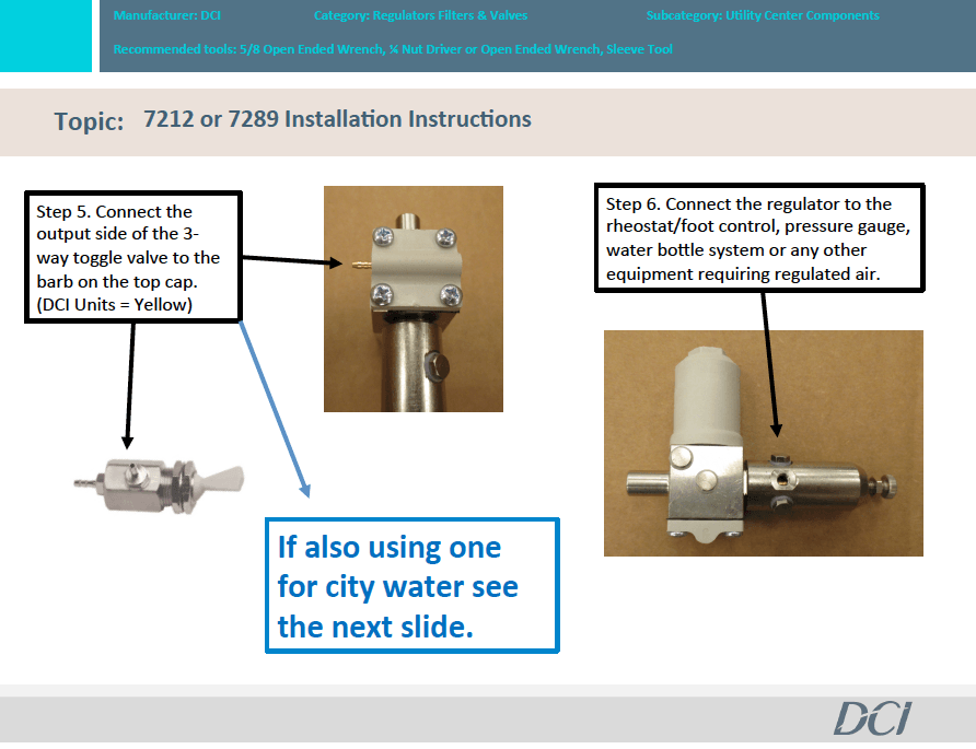 Pn 7212 or PN 7289 Master Shut-Off Valve Installation Instructions