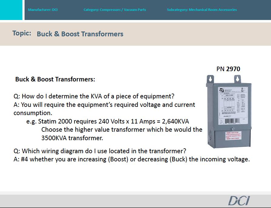 FAQ for Buck & Boost Transformers