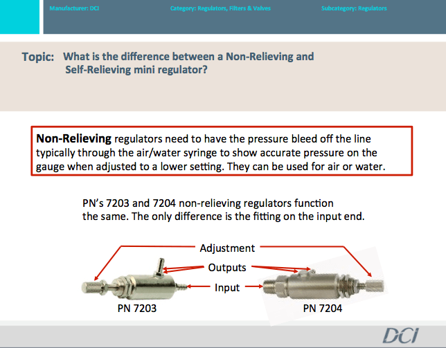Difference Between Non-Relieving & Self-Relieving Mini Regulators