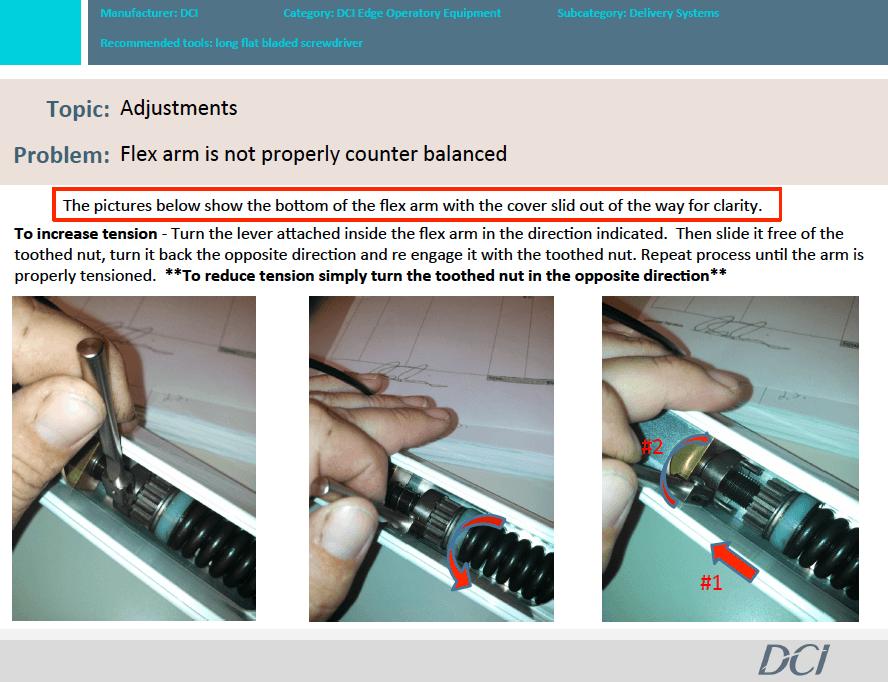 How to Adjust DCI Flex Arm