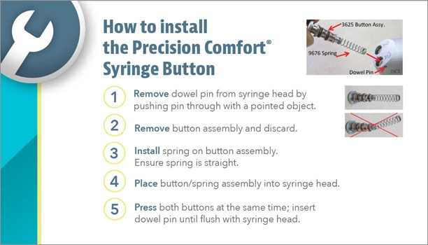 How to install a Precision Comfort Syringe Button