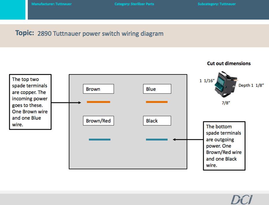 Tuttnauer Power Switch Wiring Diagram