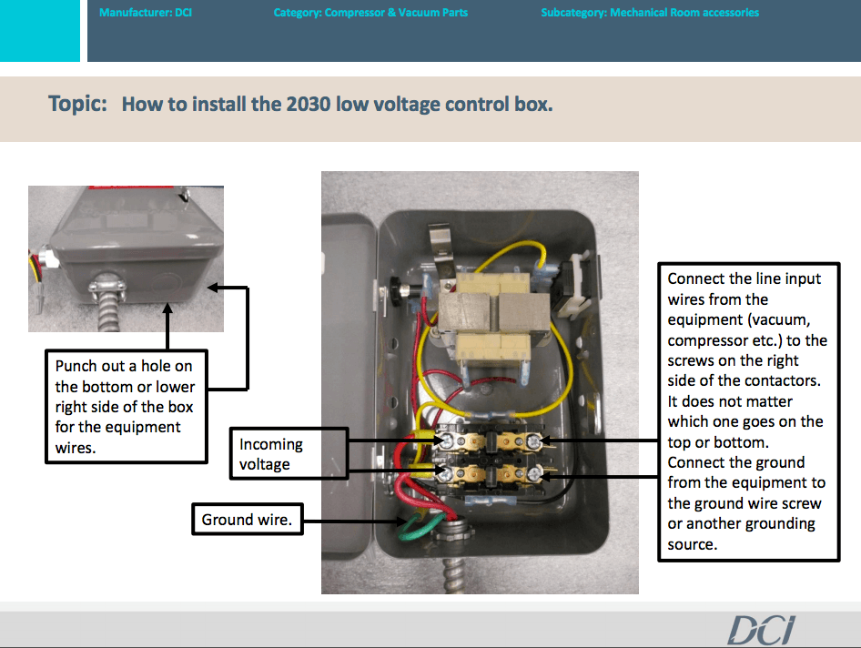 How to Install Low Voltage Control Box (DCI PN 2030)