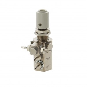 Water Relay Combo Valve with Gray Knob and Double Barb Swivel