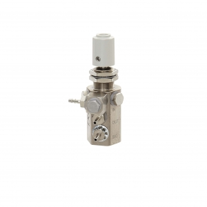 Water Relay Combo Valve with Gray Knob and Single Barb Swivel