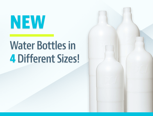 Water Bottles in 4 Different Sizes!